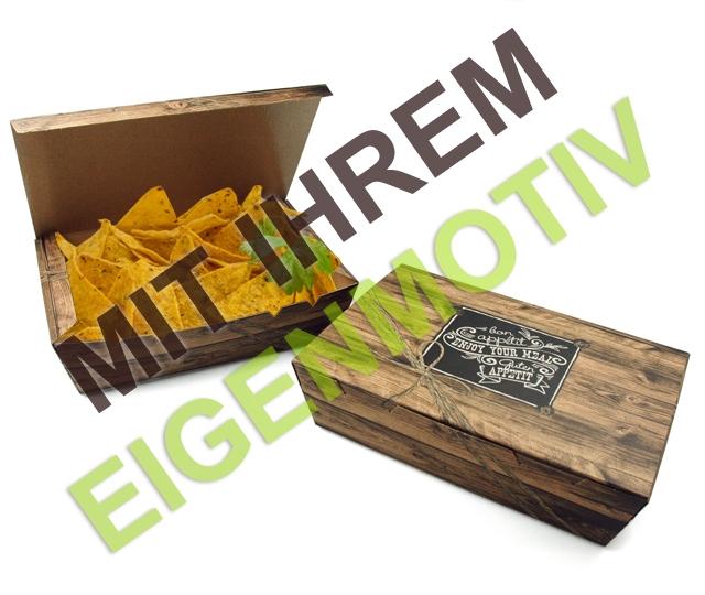 anfrage snack box gro mit klappdeckel bedruckt mit. Black Bedroom Furniture Sets. Home Design Ideas