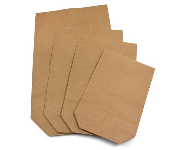 2,5 kg bis ca 500 St. 22,5x37,5 cm Bodenbeutel Kraftpapier braun