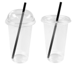 CLEAR CUPS Sparpaket: Plastikbecher, Domdeckel /...