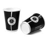Doppelwand-Kaffeebecher / Coffee to go 12oz / 300ml, edel...