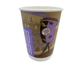 Doppelwandbecher / Coffee-to-go Becher, bedruckt, 12oz /...