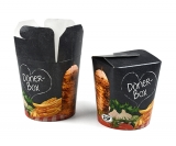 Food-Container Döner-Box Pappe bedruckt, 16oz 480ml