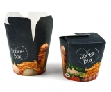 Food-Container Döner-Box Pappe bedruckt, 26oz 710ml