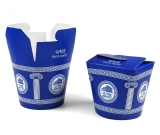 Food-Container Gyros-Box Grieche Pappe bedruckt, 26oz 710ml
