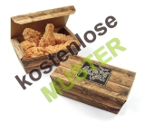 Musterartikel Snack-Box Enjoy your Meal mit Klappdeckel klein, bedruckt