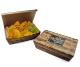 Snack-Box Enjoy your Meal mit Klappdeckel gross, bedruckt