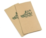 Papier Servietten All Natural braun 33x33cm 1/8-falz 2-lagig