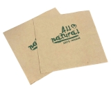 Papier Servietten All Natural braun 33x33cm 1/4-falz 2-lagig