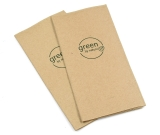 Papier Servietten green by nature braun 33x33cm 2-lagig