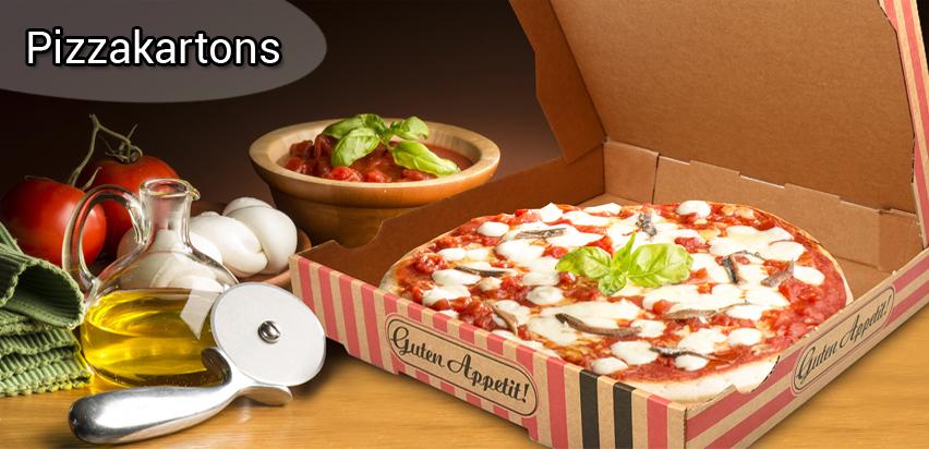 Pizzakartons / Pizzaboxen