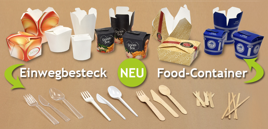 NEU: Einwegbesteck & Food-Container